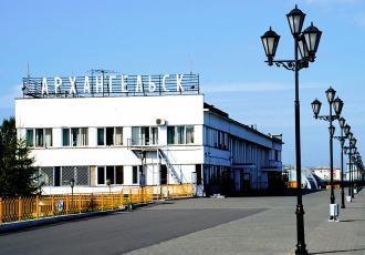 Железнодорожный вокзал в Архангельске