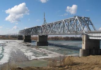 Железнодорожный мост на линии Иртышское — Карасук