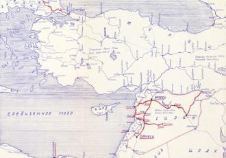 Локомотивно-вагонное депо в Сирии