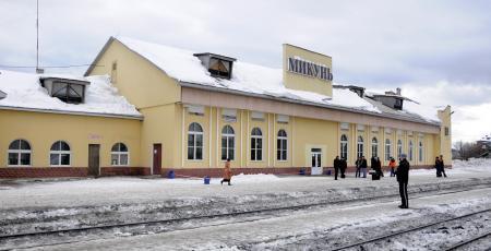 Вокзал на станции Микунь
