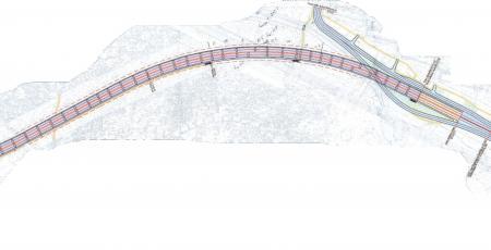 Транспортная развязка по створу Блан-Менильской улицы через железнодорожные пути Ораниенбаумского направления