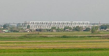 Мостовой переход через реку Ишим
