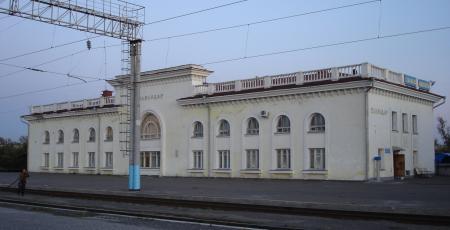 Локомотивное депо на станции Павлодар