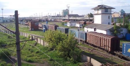 Вагоноколесные мастерские на станции Целиноград Целинной железной дороги