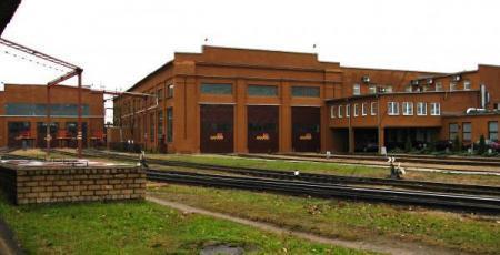 Тепловозное депо на станции Даугавпилс