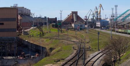 Путепроводная развязка в железнодорожном парке ст. Вентспилс