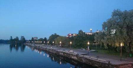 Городок ВОХР у реки Пярну