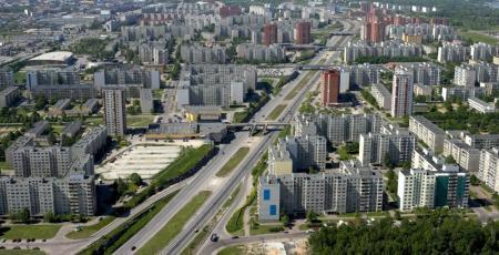 Автодорожный путепровод на пересечении Октябрьского проспекта с улицей Ласнамяэ в Таллинне