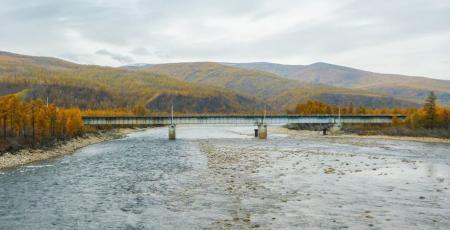 Автодорожный мост через реку Хани