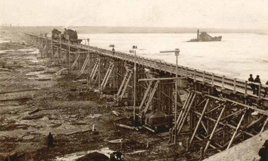 Железнодорожная линия Поляны — Шлиссельбург с мостом через Неву