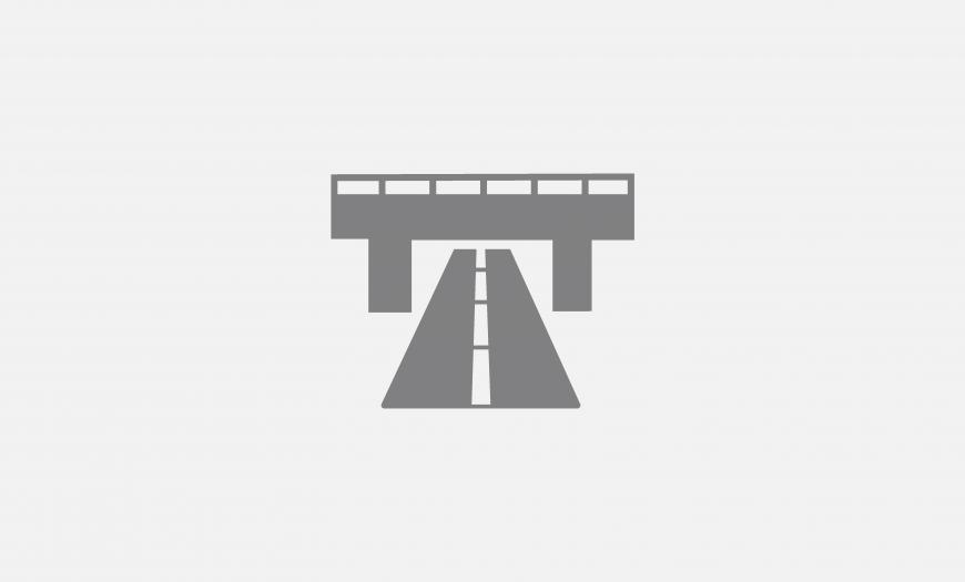 Путепровод на пересечении автодороги к Прибалтийской ГРЭС с железнодорожными путями