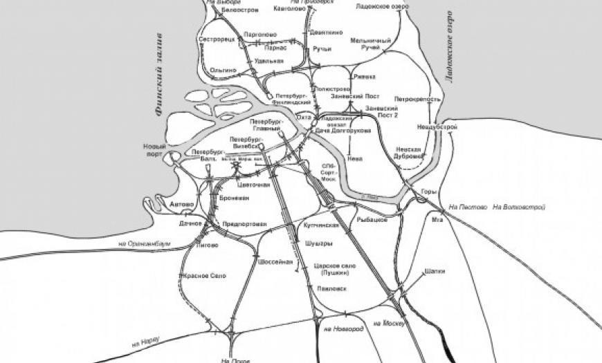 Генеральная схема развития Ленинградского узла на 1980–1985 годы
