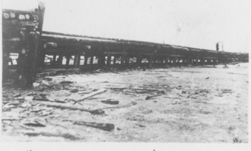Строительство железнодорожного моста через Ладожское озеро